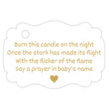 Baby shower candle tags - Gold - Dazzling Daisies