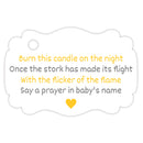 Baby shower candle tags - Gray/Yellow - Dazzling Daisies