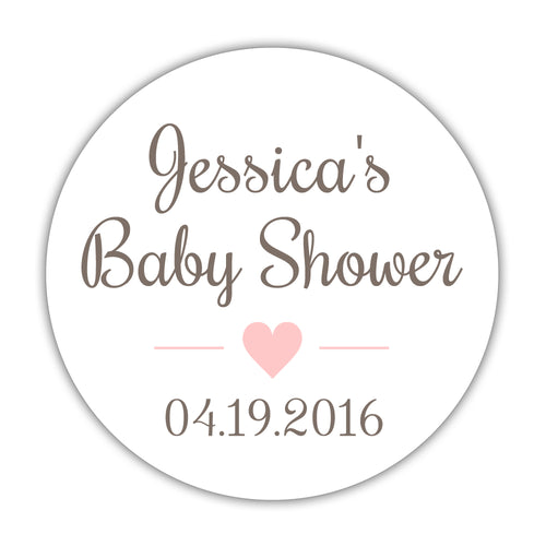 "Baby shower stickers 'Basic Sweetness' - 1.5"" circle = 30 labels per sheet / Blush - Dazzling Daisies"