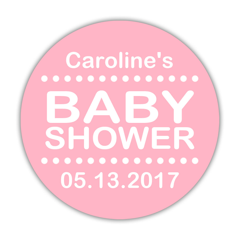 Baby shower stickers pastel - Baby shower labels   Dazzling Daisies