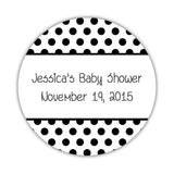 Favor stickers 'Bold Polka Dots' - 1.5