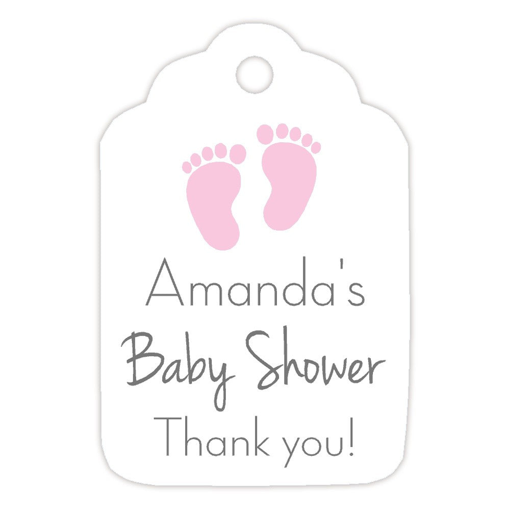 Baby Shower Tags Little Feet