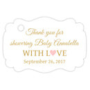 Baby shower thank you tags - Gold/Blush - Dazzling Daisies