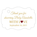 Baby shower thank you tags - Gold/Maroon - Dazzling Daisies