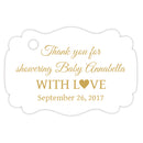 Baby shower thank you tags - Gold - Dazzling Daisies