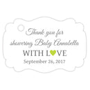 Baby shower thank you tags - Gray/Lime - Dazzling Daisies
