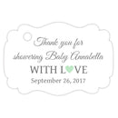 Baby shower thank you tags - Gray/Mint - Dazzling Daisies