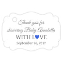 Baby shower thank you tags - Gray/Royal blue - Dazzling Daisies