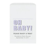 Baby shower treat bags Oh Baby - Lavender - Dazzling Daisies