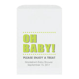 Baby shower treat bags Oh Baby - Lime - Dazzling Daisies
