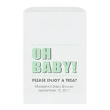 Baby shower treat bags Oh Baby - Mint - Dazzling Daisies