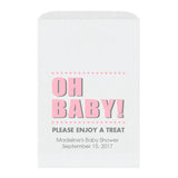 Baby shower treat bags Oh Baby - Pink - Dazzling Daisies