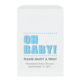 Baby shower treat bags Oh Baby - Sky blue - Dazzling Daisies