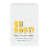 Baby shower treat bags Oh Baby - Yellow - Dazzling Daisies