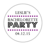 Bachelorette party stickers 'Sassy Stipple' -  - Dazzling Daisies
