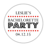 Bachelorette party stickers 'Sassy Stipple' - 1.5