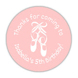 Ballet favor stickers - 1.5