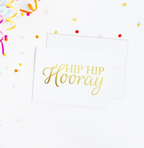 Hip hip hooray card - Gold foil - Dazzling Daisies
