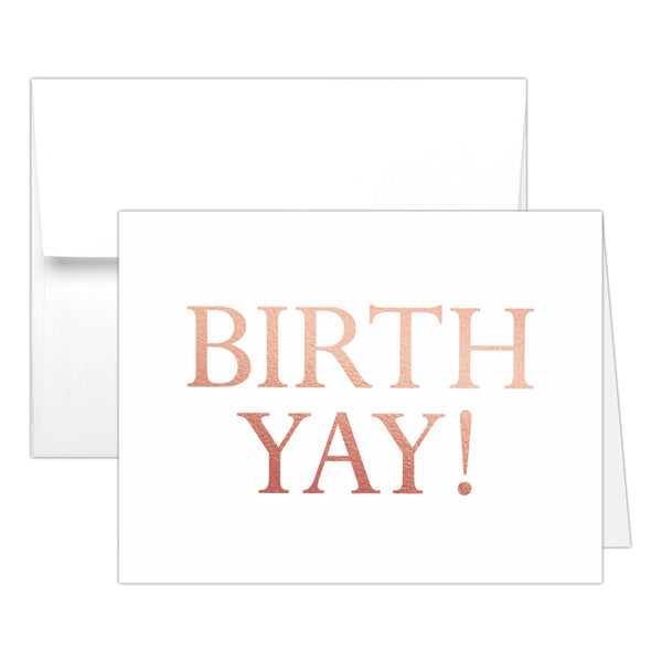 Birthday card 'Birth Yay' - Rose gold foil - Dazzling Daisies