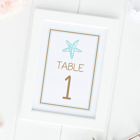 Country wedding table numbers