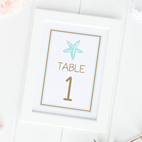 Beach wedding table numbers -  - Dazzling Daisies
