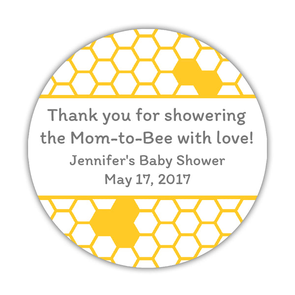 Bee baby shower stickers -  - Dazzling Daisies