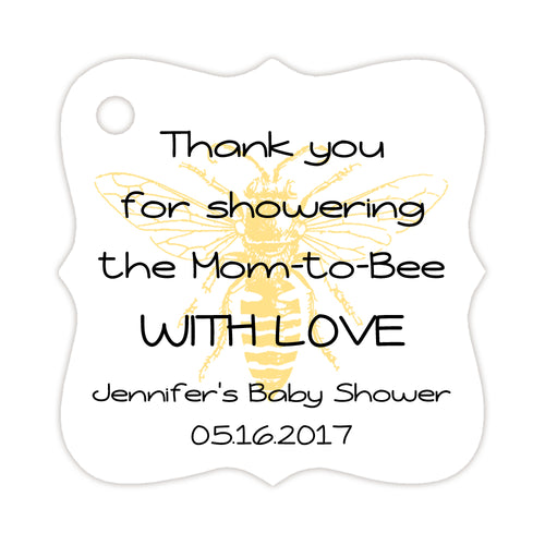 Bee baby shower tags - Sunrise - Dazzling Daisies