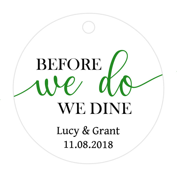 Before we do we dine tags - Green - Dazzling Daisies