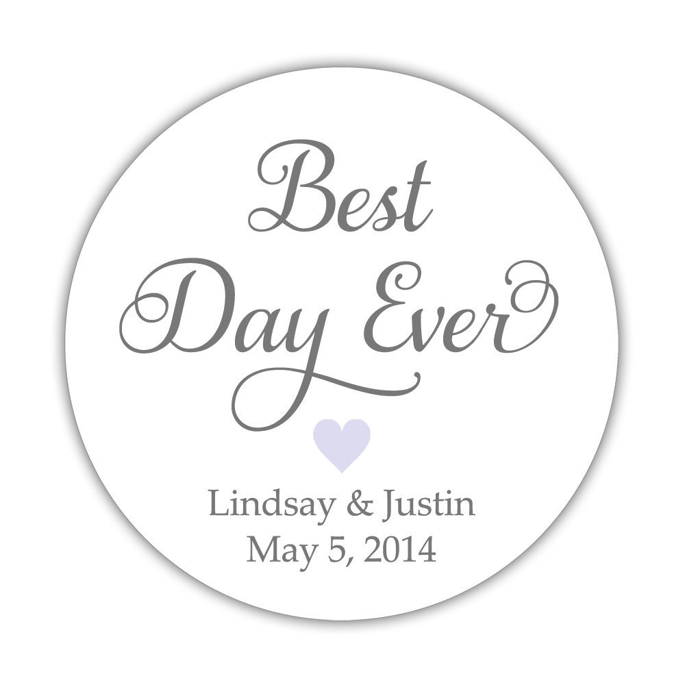 Best day ever stickers - Wedding favor stickers | Dazzling Daisies