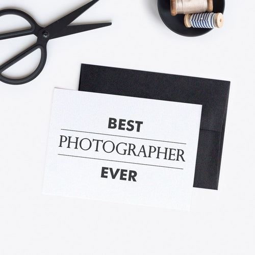 Best photographer ever card modern - White / White - Dazzling Daisies