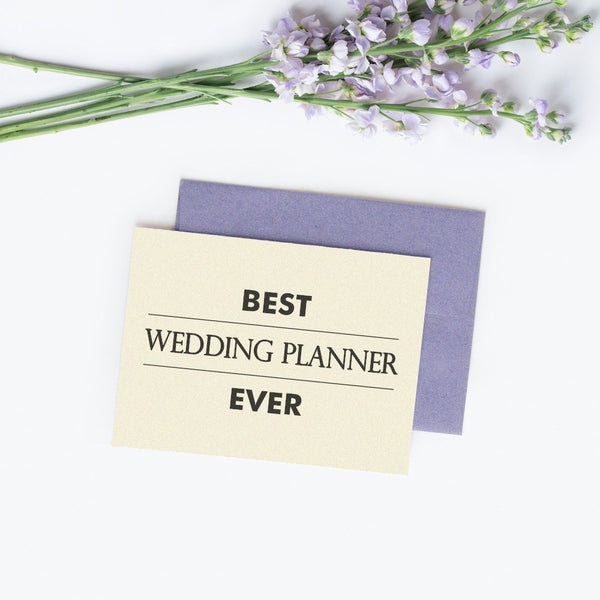 Best wedding planner ever card 'Modern Lines' - Champagne / White - Dazzling Daisies