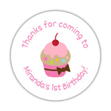 Birthday stickers 'Cupcake Goodness' - 1.5