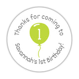 Birthday stickers 'Balloon' - 1.5