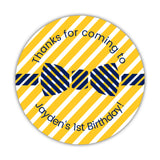 Birthday stickers 'Bow tie Cuteness' - 1.5