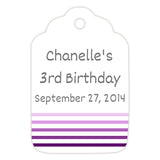 Favor tags 'Ombre Border' - Purple - Dazzling Daisies