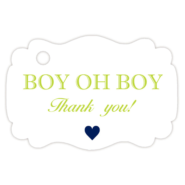 Boy oh boy baby shower tags - Lime - Dazzling Daisies