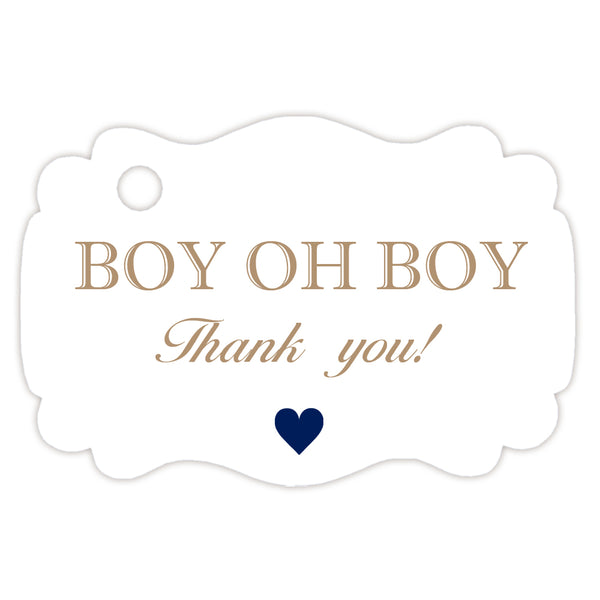 Boy oh boy baby shower tags - Sand - Dazzling Daisies