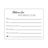 Bridal shower advice cards 'Classic Elegance' - Black - Dazzling Daisies