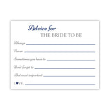 Bridal shower advice cards 'Classic Elegance' - Navy - Dazzling Daisies
