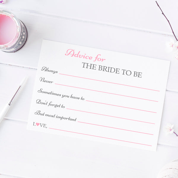 Bridal shower advice cards 'Classic Elegance' -  - Dazzling Daisies