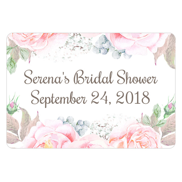 Favor labels 'Floral Romance' - Taupe - Dazzling Daisies