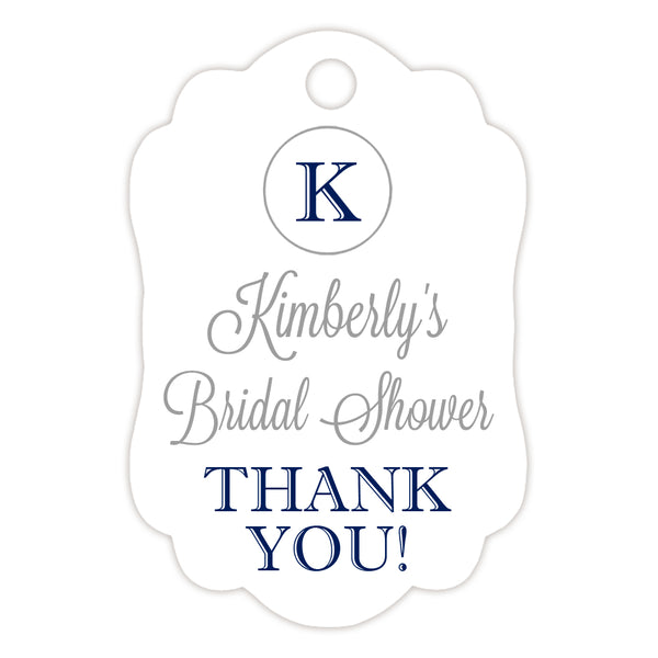 Monogram tags 'Elegance Deluxe' - Silver/Navy - Dazzling Daisies