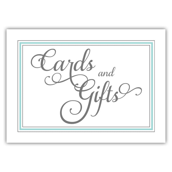 Cards and gifts sign 'Elevated Elegance' - Aquamarine - Dazzling Daisies