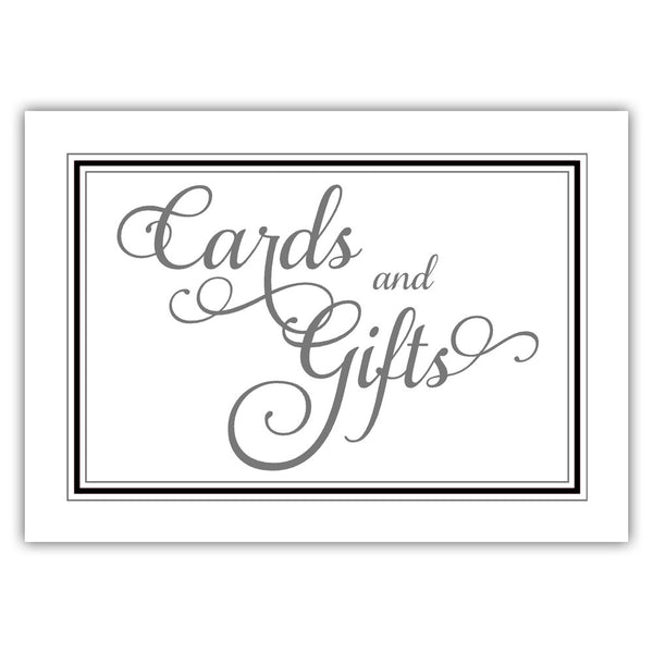 Cards and gifts sign 'Elevated Elegance' - Black - Dazzling Daisies