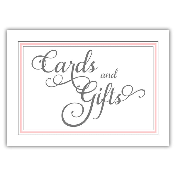 Cards and gifts sign 'Elevated Elegance' - Blush - Dazzling Daisies