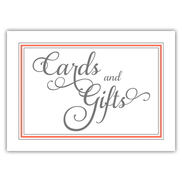 Cards and gifts sign 'Elevated Elegance' - Coral - Dazzling Daisies