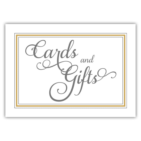 Cards and gifts sign 'Elevated Elegance' - Gold - Dazzling Daisies