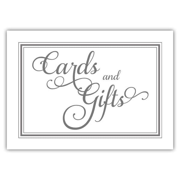 Cards and gifts sign 'Elevated Elegance' - Gray - Dazzling Daisies