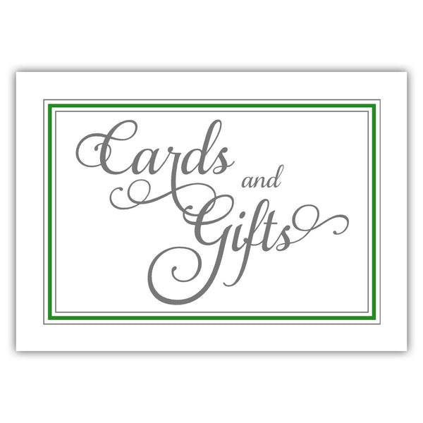 Cards and gifts sign 'Elevated Elegance' - Green - Dazzling Daisies