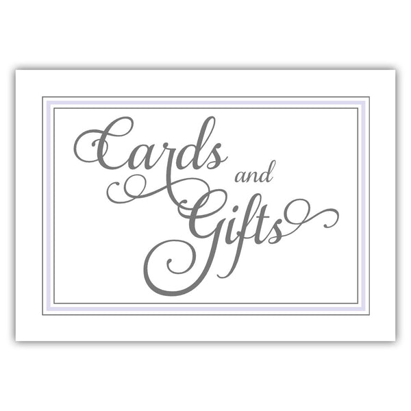 Cards and gifts sign 'Elevated Elegance' - Lavender - Dazzling Daisies